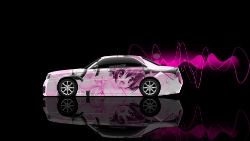 Nissan-Cedric-JDM-Tuning-Side-Anime-Girl-Aerography-Car-2015-Pink-Neon-Effects-4K-Wallpapers-design-by-Tony-Kokhan-[www.el-tony.com]