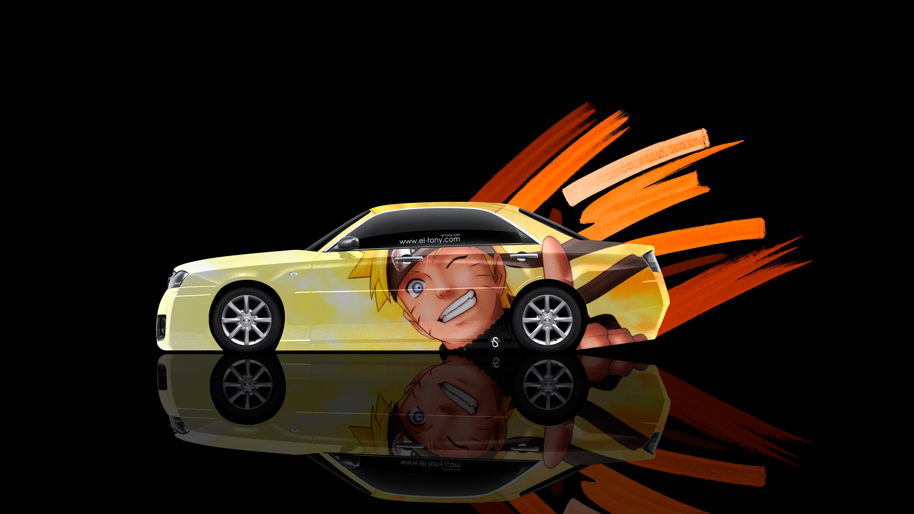Superbe Nissan Cedric JDM Tuning Side Anime Naruto Aerography