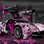 Pagani Huayra Anime Aerography City Car 2015