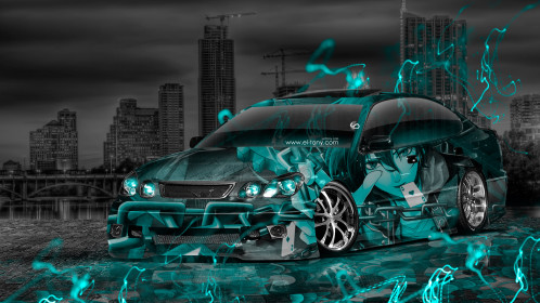 Toyota-Aristo-JDM-Tuning-Anime-Boy-Aerography-City-Car-2015-Art-Azure-Neon-Effects-3D-HD-Wallpapers-design-by-Tony-Kokhan-[www.el-tony.com]
