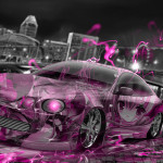 Toyota Celica JDM Tuning Anime Girl Aerography City Car 2015