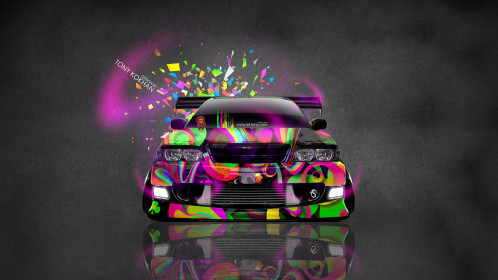 Toyota-Chaser-JZX100-JDM-Tuning-Front-Domo-Kun-Toy-Car-2015-Multicolors-HD-Wallpapers-design-by-Tony-Kokhan-[www.el-tony.com]