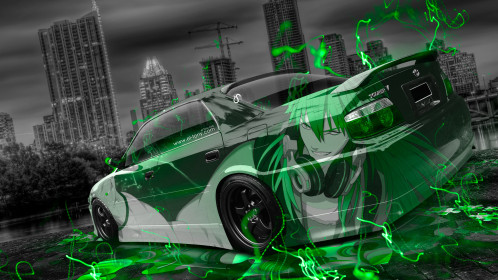 Toyota-Chaser-JZX100-TourerV-JDM-Tuning-Anime-Boy-Aerography-City-Car-2015-Green-Neon-Effects-3D-HD-Wallpapers-design-by-Tony-Kokhan-[www.el-tony.com]