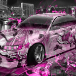 Toyota Mark2 JZX90 JDM Tuning Anime Aerography City Car 2015