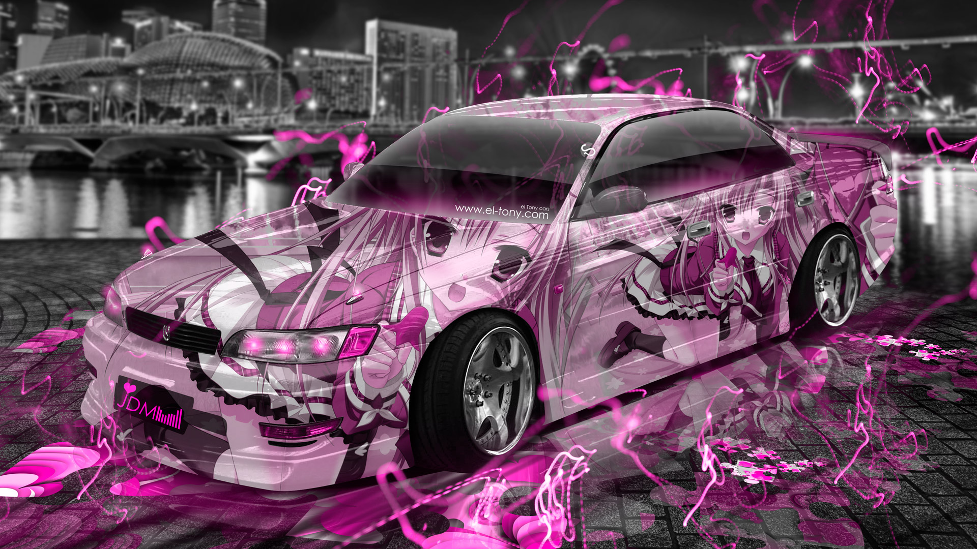 Girls Wallpapers 2015: Toyota Mark2 JZX90 JDM Tuning Anime Aerography City Car