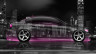 BMW-E90-Side-Crystal-City-Car-2015-Pink-Neon-4K-Wallpapers-design-by-Tony-Kokhan-www.el-tony.com-image