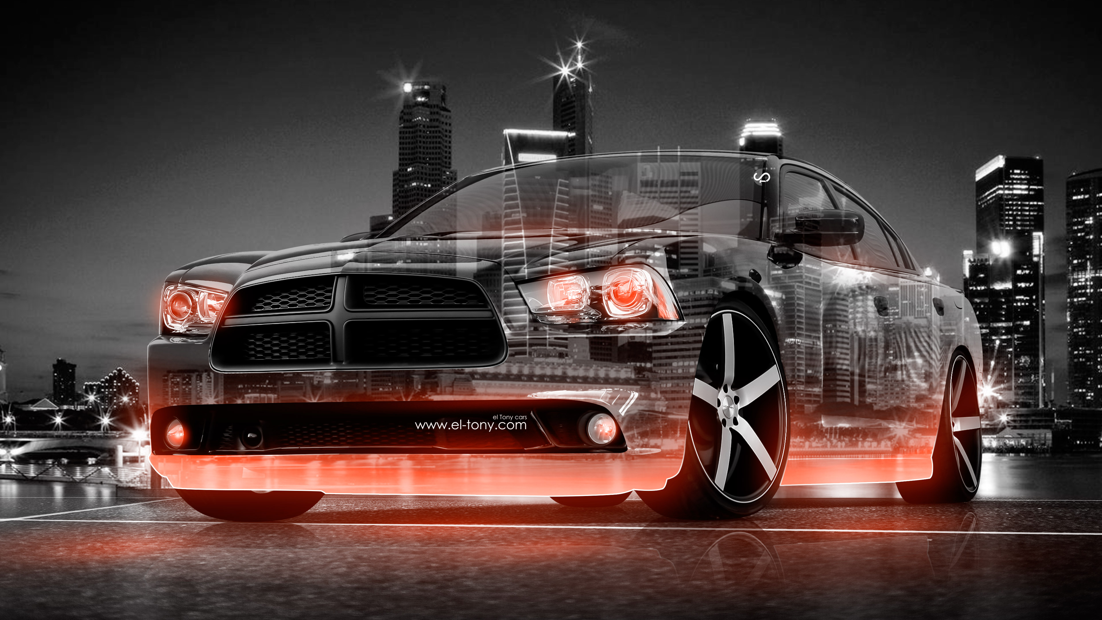 4k Dodge Charger Rt Muscle Crystal City Car 2015 El Tony