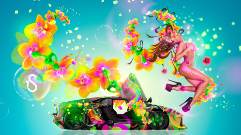 Fantasy-Fly-Sexy-Flowers-Girl-Lamborghini-Aventador-Abstract-Aerography-Art-Style-2015-Multicolors-4K-Wallpapers-design-by-Tony-Kokhan-[www.el-tony.com]