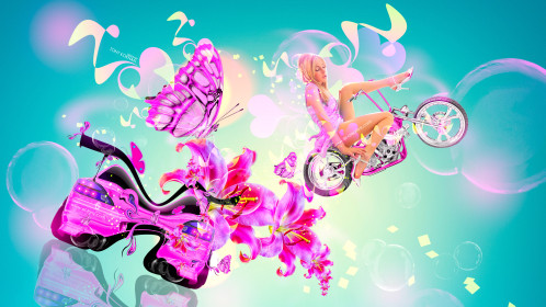 Fantasy-Girl-Moto-Bike-Fly-Mix-Flowers-Nissan-Silvia-S15-JDM-Back-Plastic-Butterfly-Car-2015-Multicolors-4K-Wallpapers-design-by-Tony-Kokhan-[www.el-tony.com]