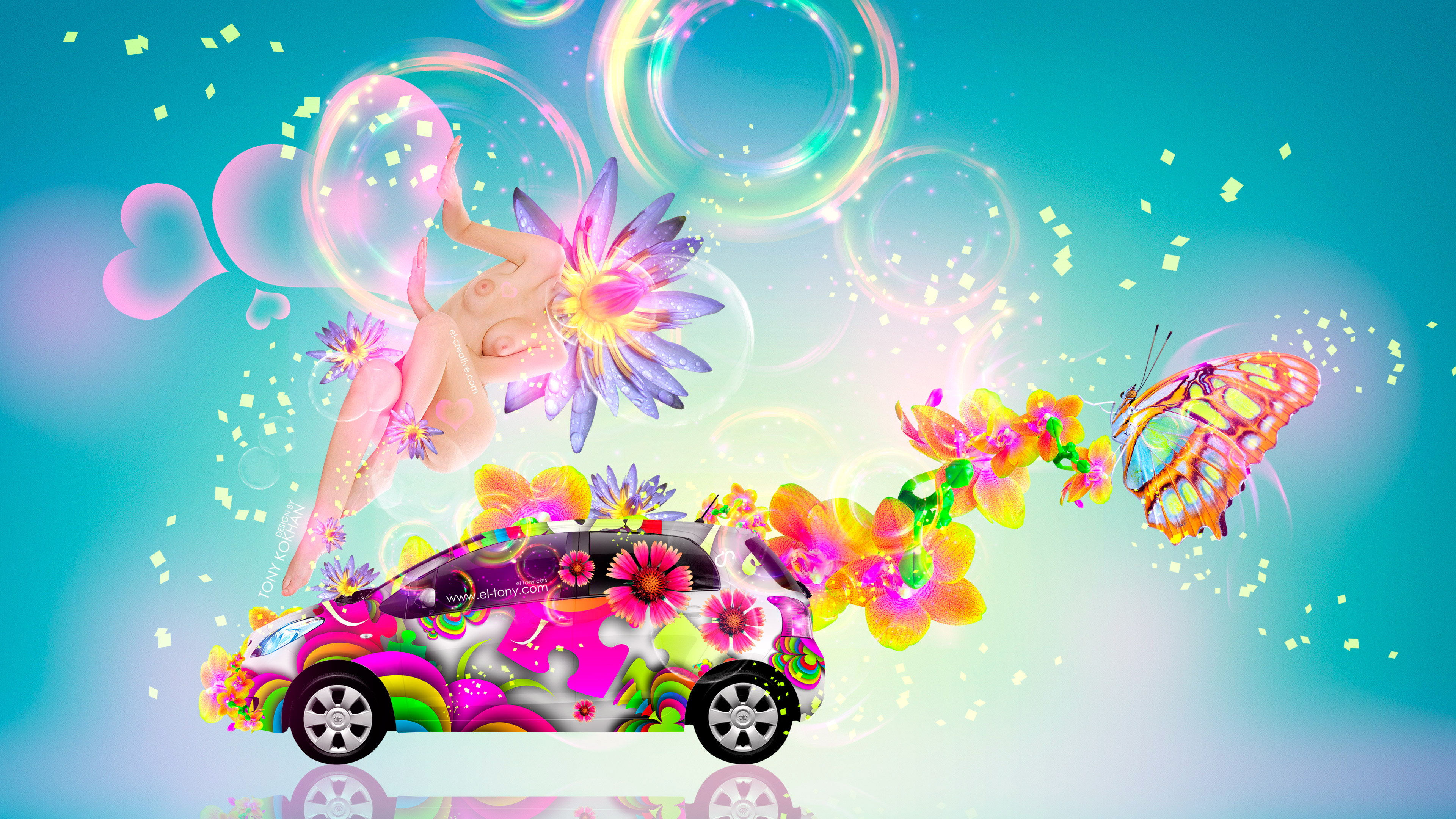 Ordinaire Fantasy Sexy Flowers Fly Girl MixToyota Vitz JDM