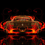 Ferrari 512 TR Back Fire Abstract Car 2015