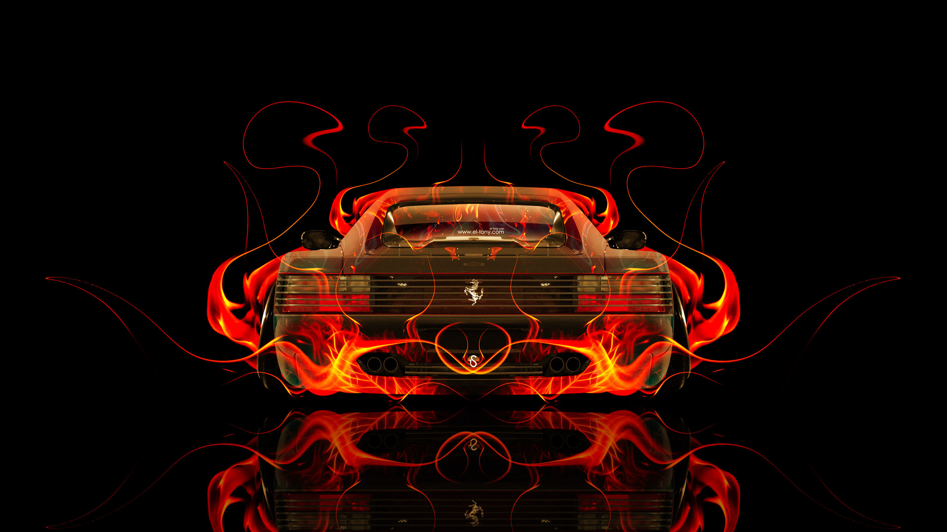 Genial ... Ferrari 512 TR Back Fire Abstract Car 2015