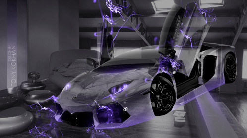 Lamborghini-Aventador-Open-Doors-Fantasy-Transformer-Crystal-Home-Fly-Car-2015-Violet-Neon-Effects-4K-Wallpapers-design-by-Tony-Kokhan-[www.el-tony.com]