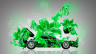 Lamborghini-Miura-Open-Hood-Side-Fantasy-Flowers-Butterfly-Car-2015-Art-Green-Neon-Colors-HD-Wallpapers-design-by-Tony-Kokhan-[www.el-tony.com]