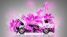 Lamborghini-Miura-Open-Hood-Side-Fantasy-Flowers-Butterfly-Car-2015-Art-Pink-Neon-Colors-HD-Wallpapers-design-by-Tony-Kokhan-[www.el-tony.com]