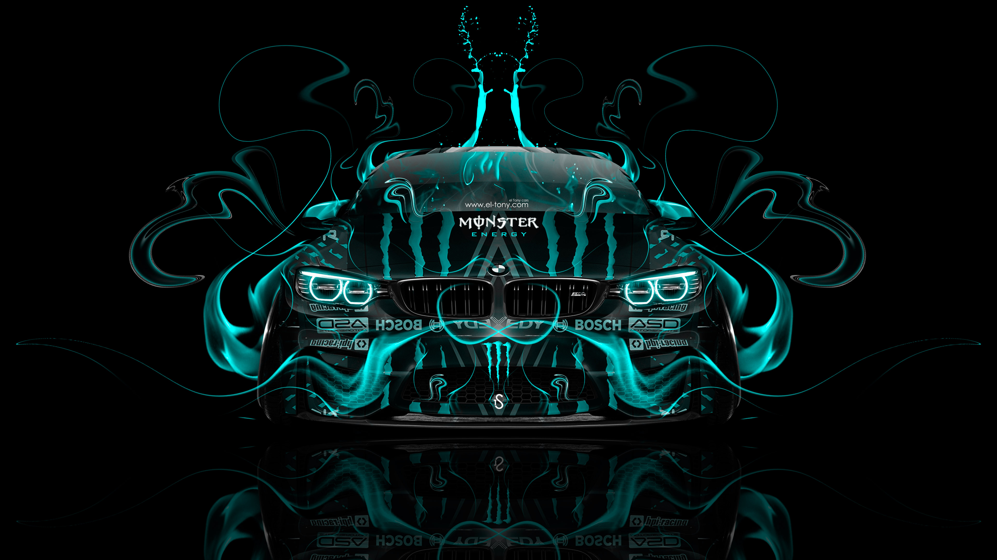 ... Monster Energy BMW M4 Tuning Front Plastic Acid