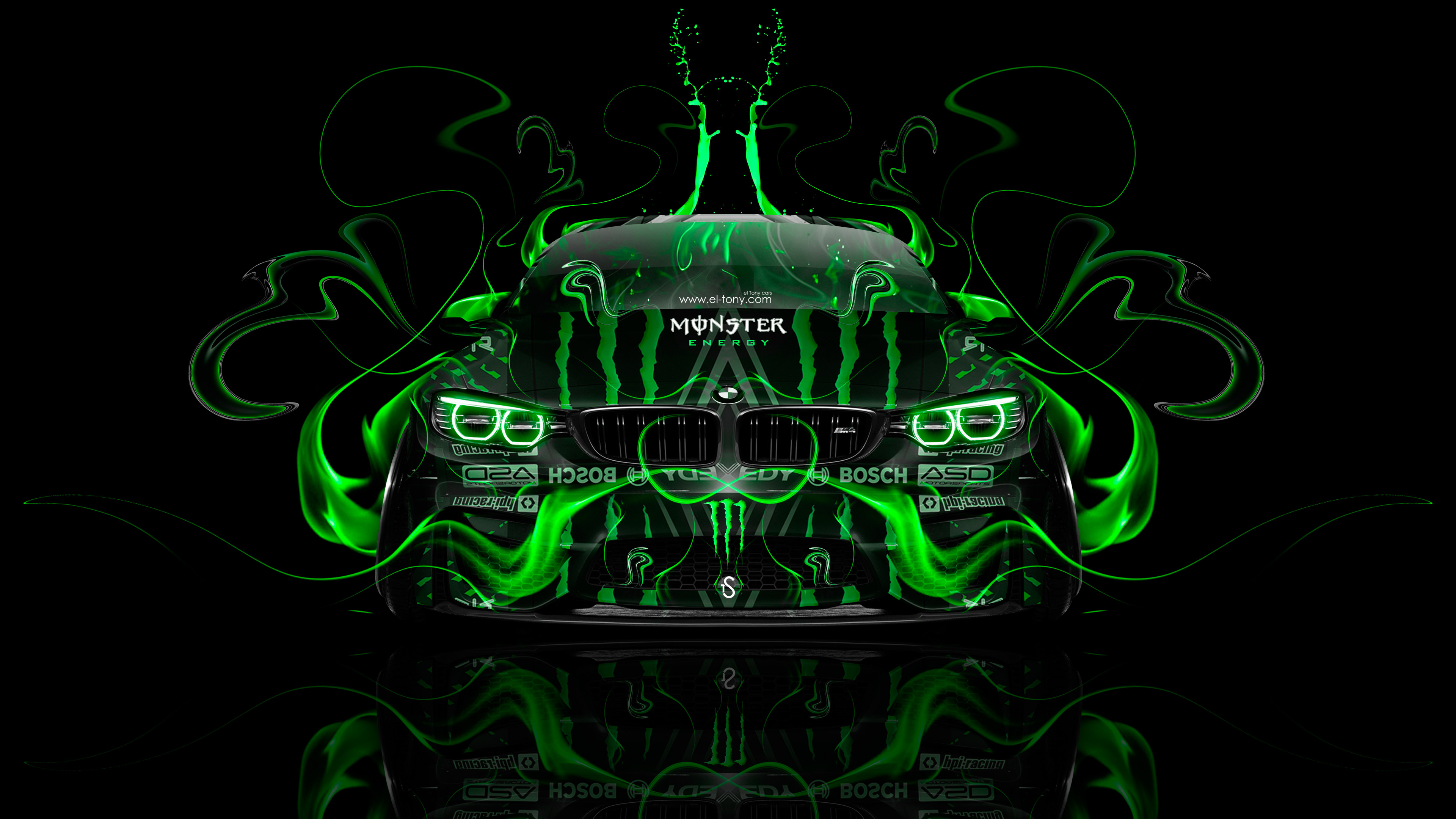 Charmant Monster Energy BMW M4 Tuning Front Plastic Acid