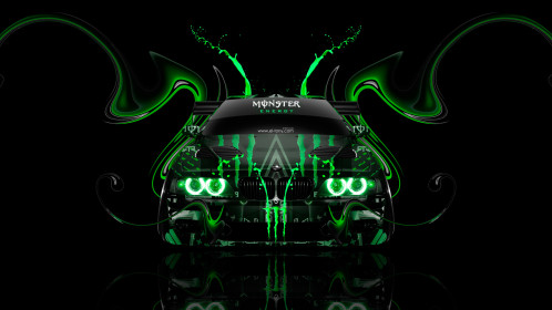 Monster-Energy-BMW-M5-E39-Front-Plastic-Acid-Car-2015-Green-Colors-HD-Wallpapers-design-by-Tony-Kokhan-[www.el-tony.com]