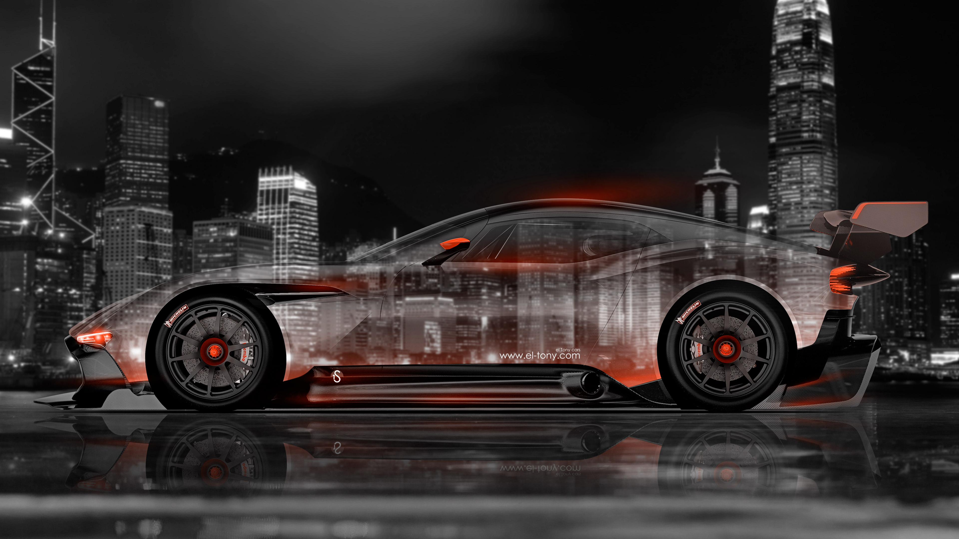 ... Aston Martin Vulcan Side Crystal City Car 2015  ...