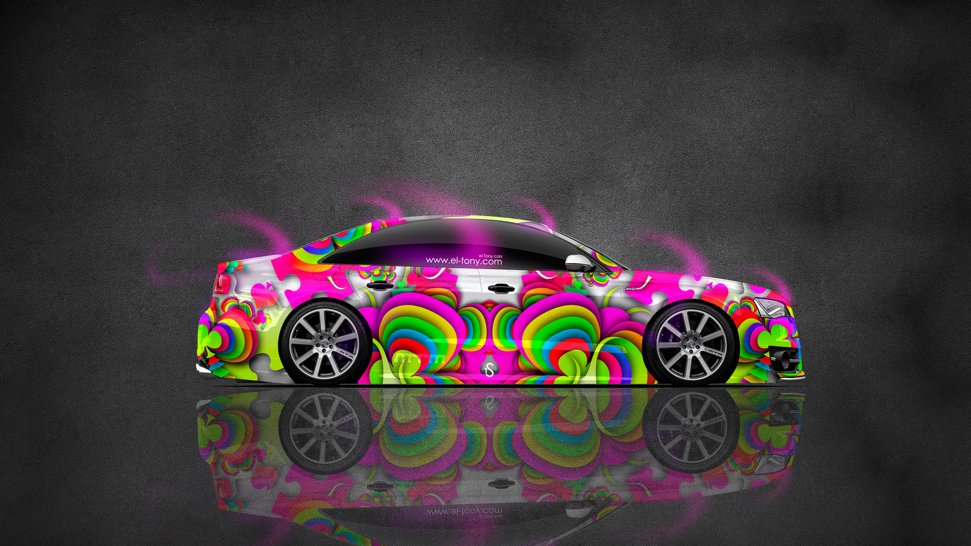 Charmant ... Audi S8 Biturbo Tuning MTM Side Abstract Aerography Car 2015