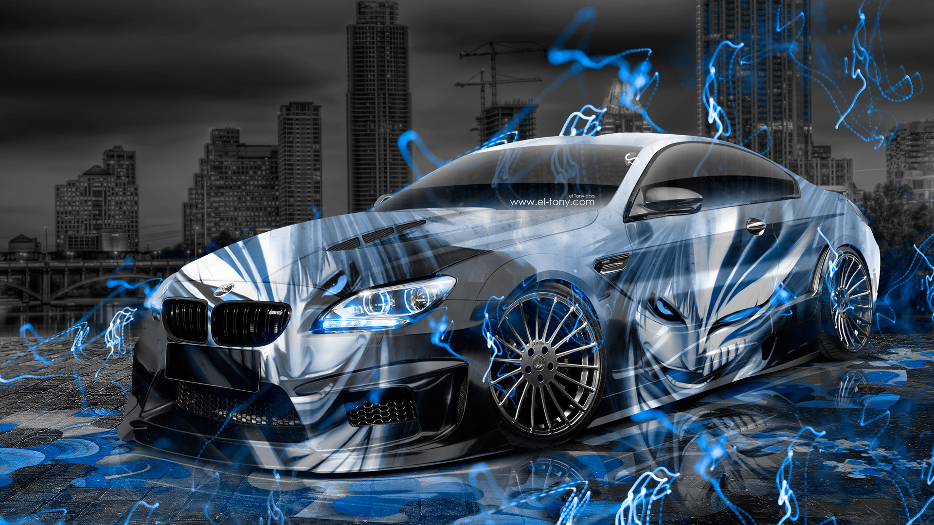 Bmw M6 Hamann Tuning Anime Bleach Aerography City Car 2015