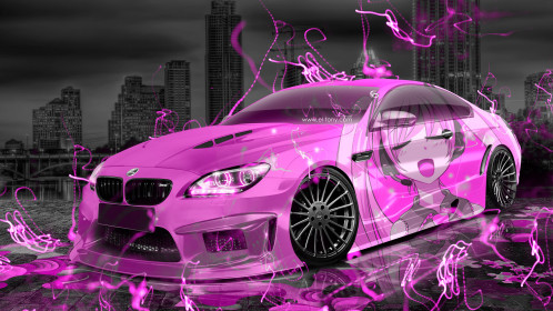 BMW-M6-Hamann-Tuning-3D-Anime-Girl-Music-Aerography-Car-2015-Art-Pink-Neon-Effects-HD-Wallpapers-design-by-Tony-Kokhan-www.el-tony.com-image