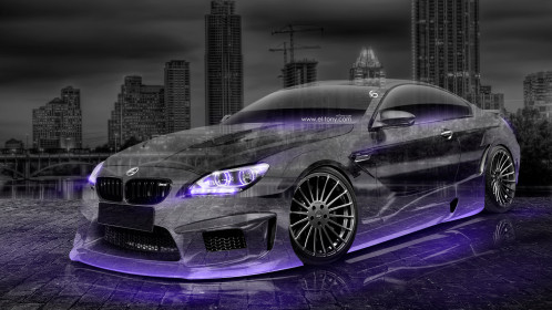 BMW-M6-Hamann-Tuning-3D-Crystal-City-Car-2015-Art-Violet-Neon-Colors-HD-Wallpapers-design-by-Tony-Kokhan-www.el-tony.com-image