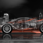 4K Ferrari FXX K Side Crystal City Car 2015
