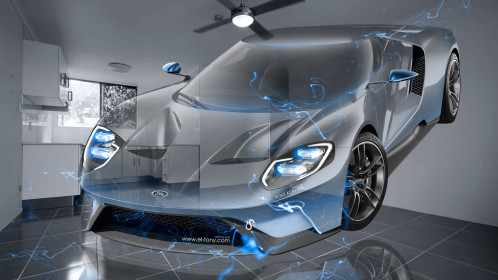 Ford-GT-Fantasy-Crystal-Home-Fly-Energy-Car-2015-Blue-Neon-Effects-4K-Wallpapers-design-by-Tony-Kokhan-www.el-tony.com-image