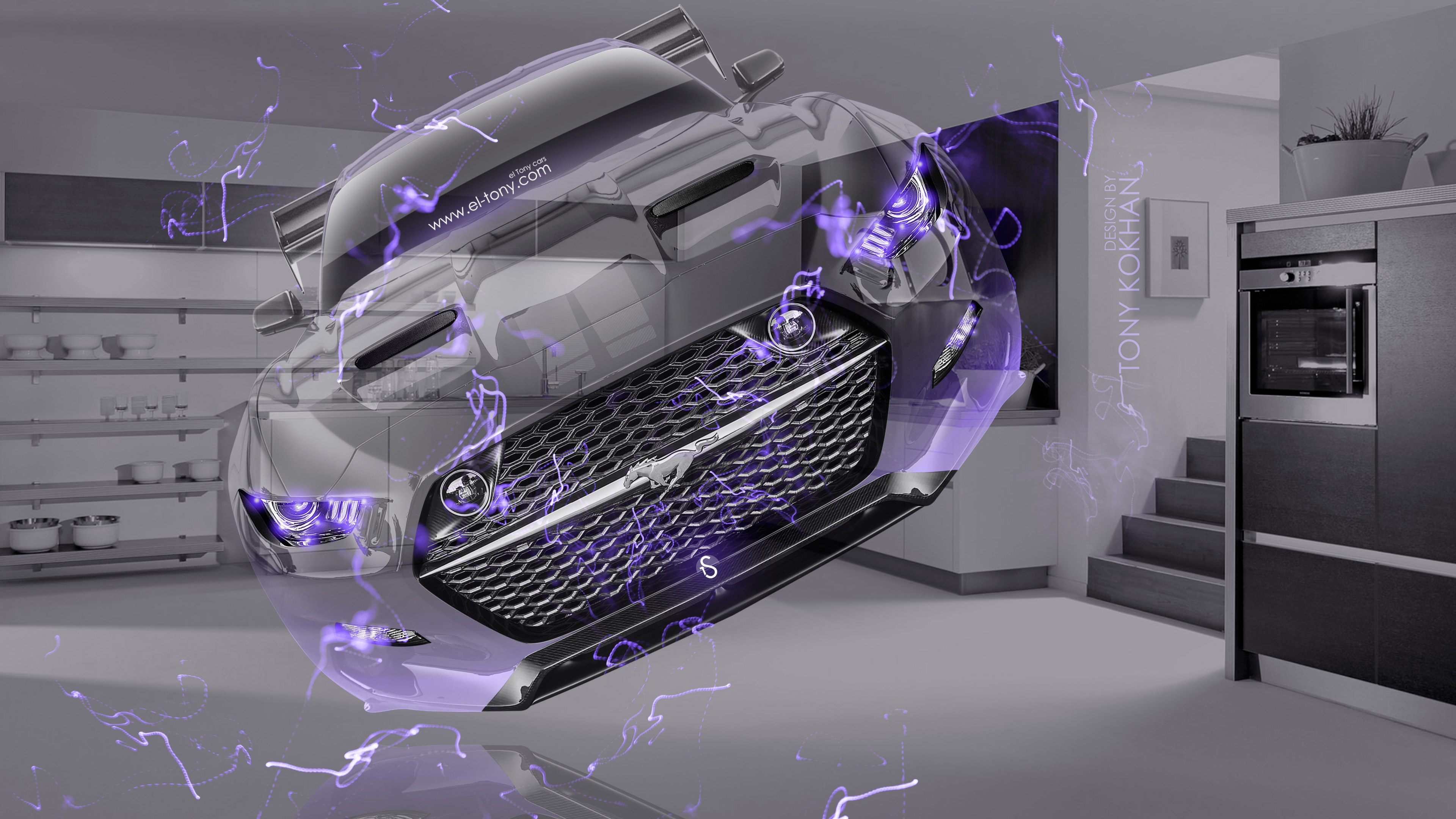 Ford-Mustang-Muscle-Tuning-FrontUp-Fantasy-Crystal-Home-Fly-Transformer-Car-2015-Violet-Neon-Effects-4K-Wallpapers-design-by-Tony-Kokhan-www.el-tony.com-image