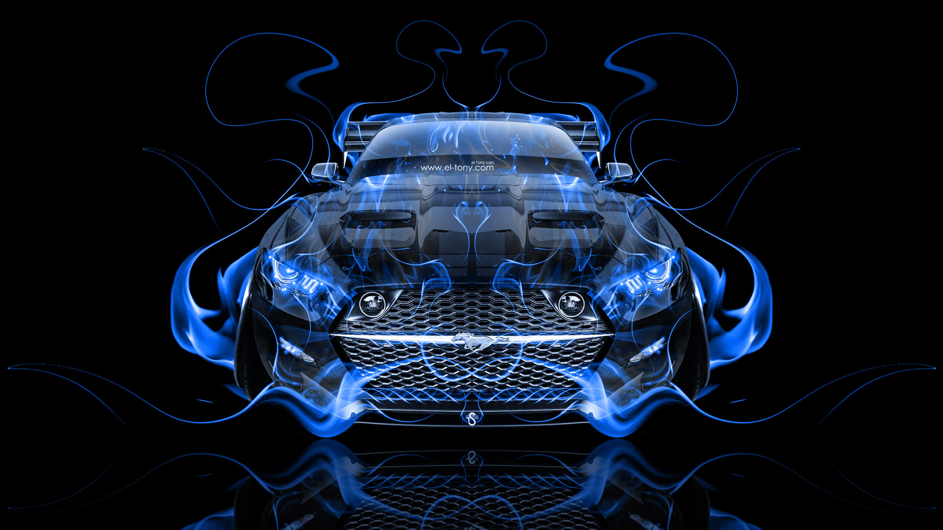 Ford Mustang Muscle Tuning Fire Abstract Car 2015   el Tony