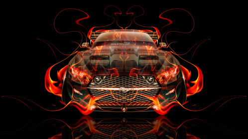Ford-Mustang-Muscle-Tuning-FrontUp-Fire-Abstract-Car-2015-Original-Orange-Yellow-Black-Colors-HD-Wallpapers-design-by-Tony-Kokhan-www.el-tony.com-image