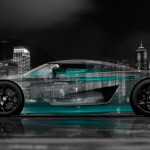 4K Koenigsegg Regera Side Crystal City Car 2015