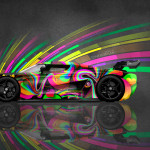 4K Koenigsegg Regera Side Super Abstract Aerography Car 2015