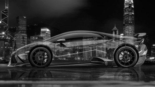 Lamborghini-Huracan-Mansory-Tuning-Side-Crystal-City-Car-2015-Black-White-Colors-4K-Wallpapers-design-by-Tony-Kokhan-www.el-tony.com-image