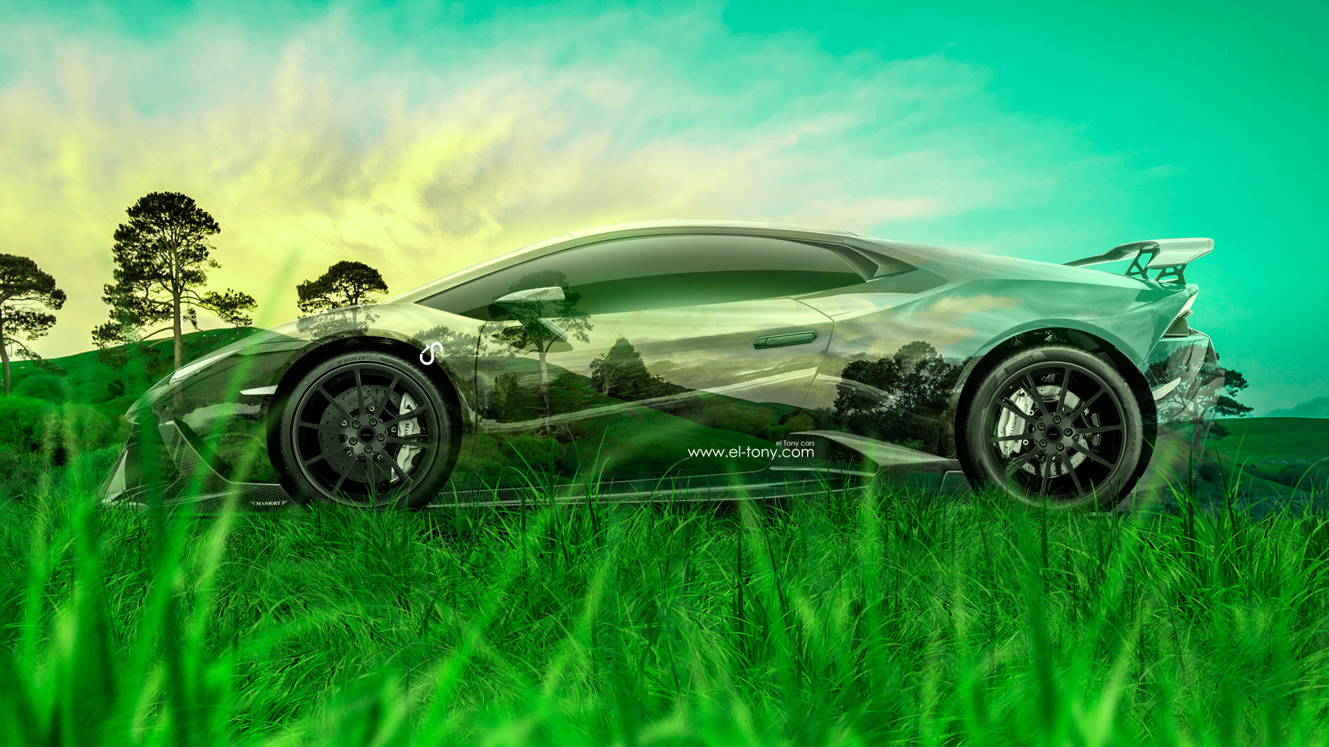 Lamborghini Centenario FrontUp Super Crystal Home Fly Nature Art Car 2017 ·  Lamborghini Huracan Mansory Tuning Side Crystal Nature Car 2015