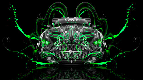 Monster-Energy-Ford-Mustang-Muscle-Tuning-FrontUp-Super-Plastic-Vinyl-Aerography-Acid-Car-2015-Green-Colors-HD-Wallpapers-design-by-Tony-Kokhan-www.el-tony.com-image