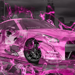 Nissan GTR R35 JDM Anime Girl Aerography City Car 2015