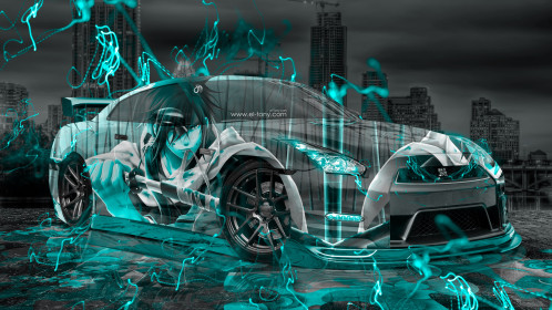 Nissan-GTR-R35-JDM-3D-Anime-Samurai-Aerography-City-Car-2015-Art-Azure-Neon-Effects-HD-Wallpapers-design-by-Tony-Kokhan-www.el-tony.com-image