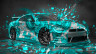 Nissan-GTR-R35-JDM-Style-3D-Super-Abstract-Aerography-Domo-Kun-Toy-Car-2015-Azure-Colors-HD-Wallpapers-design-by-Tony-Kokhan-www.el-tony.com-image