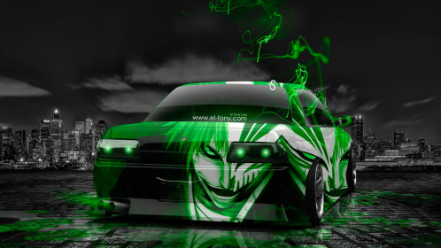 Nissan-Skyline-GTR-R32-Tuning-JDM-Anime-Bleach-Aerography-City-Car-2015-Green-Neon-Effects-HD-Wallpapers-design-by-Tony-Kokhan-www.el-tony.com-image