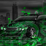 Toyota Aristo JDM Tuning Energy Dragon Aerography City Car 2015