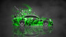 Toyota-Chaser-JZX100-JDM-Tuning-Style-Side-Domo-Kun-Toy-Car-2015-Abstract-Aerography-Green-Colors-4K-Wallpapers-design-by-Tony-Kokhan-www.el-tony.com-image