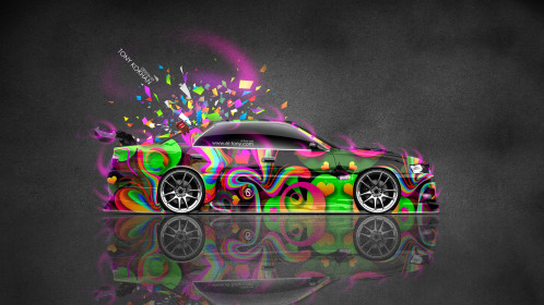 Toyota-Chaser-JZX100-JDM-Tuning-Style-Side-Domo-Kun-Toy-Car-2015-Multicolors-Abstract-Aerography-Pink-Neon-4K-Wallpapers-design-by-Tony-Kokhan-www.el-tony.com-image