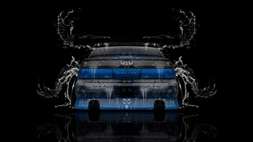 Toyota-Cresta-JZX90-Tuning-JDM-Back-Water-Car-2015-Art-Blue-Neon-HD-Wallpapers-design-by-Tony-Kokhan-www.el-tony.com-image
