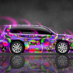 Toyota Land Cruiser Side Abstract Aerography Car 2015