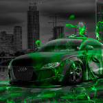 Audi TT Tuning Anime Bleach Aerography City Energy Car 2015