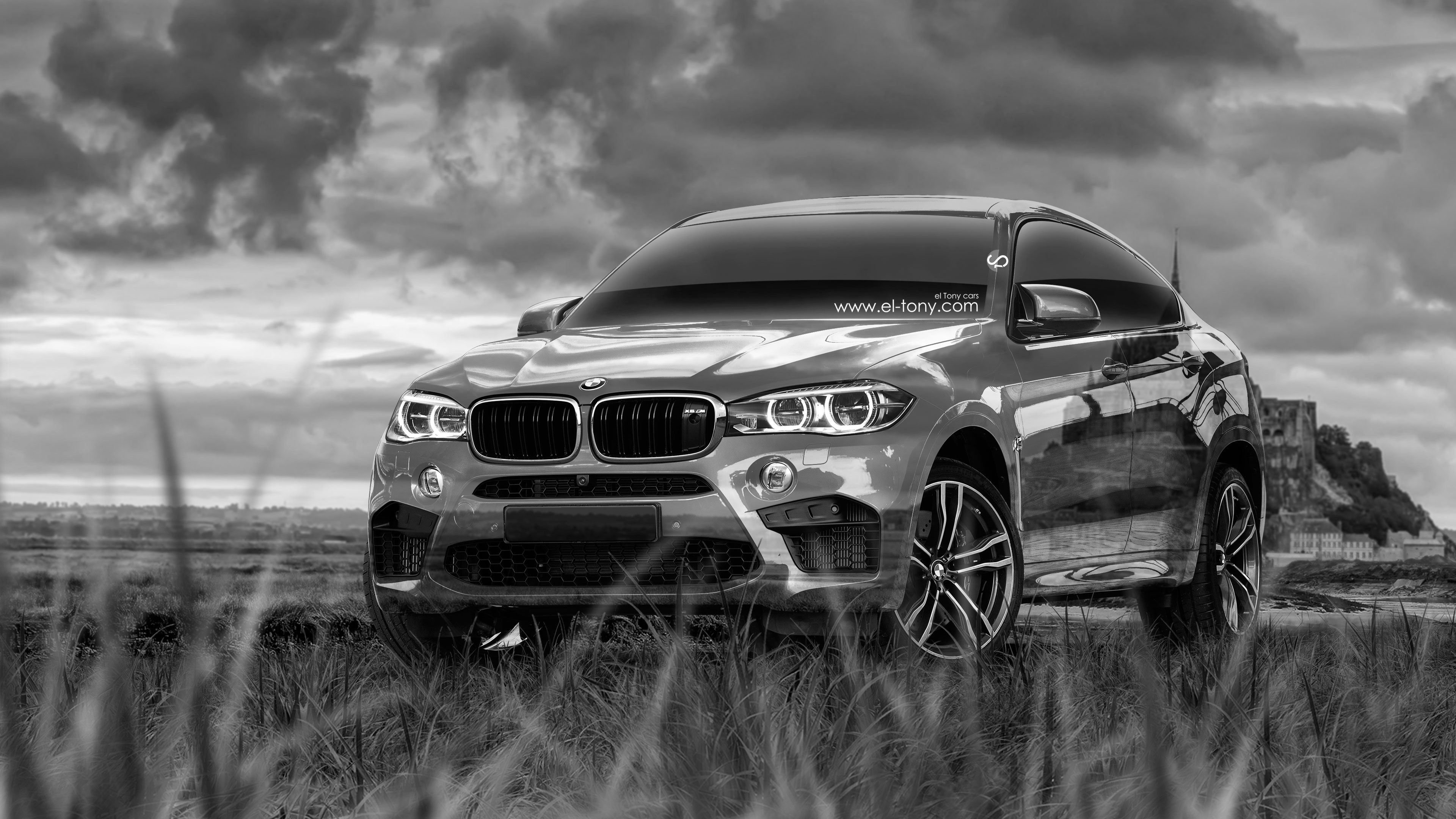 4k Bmw X6 M Crystal Nature Car 2015 El Tony