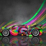 4K Ferrari FXX K Side Super Abstract Aerography Car 2015