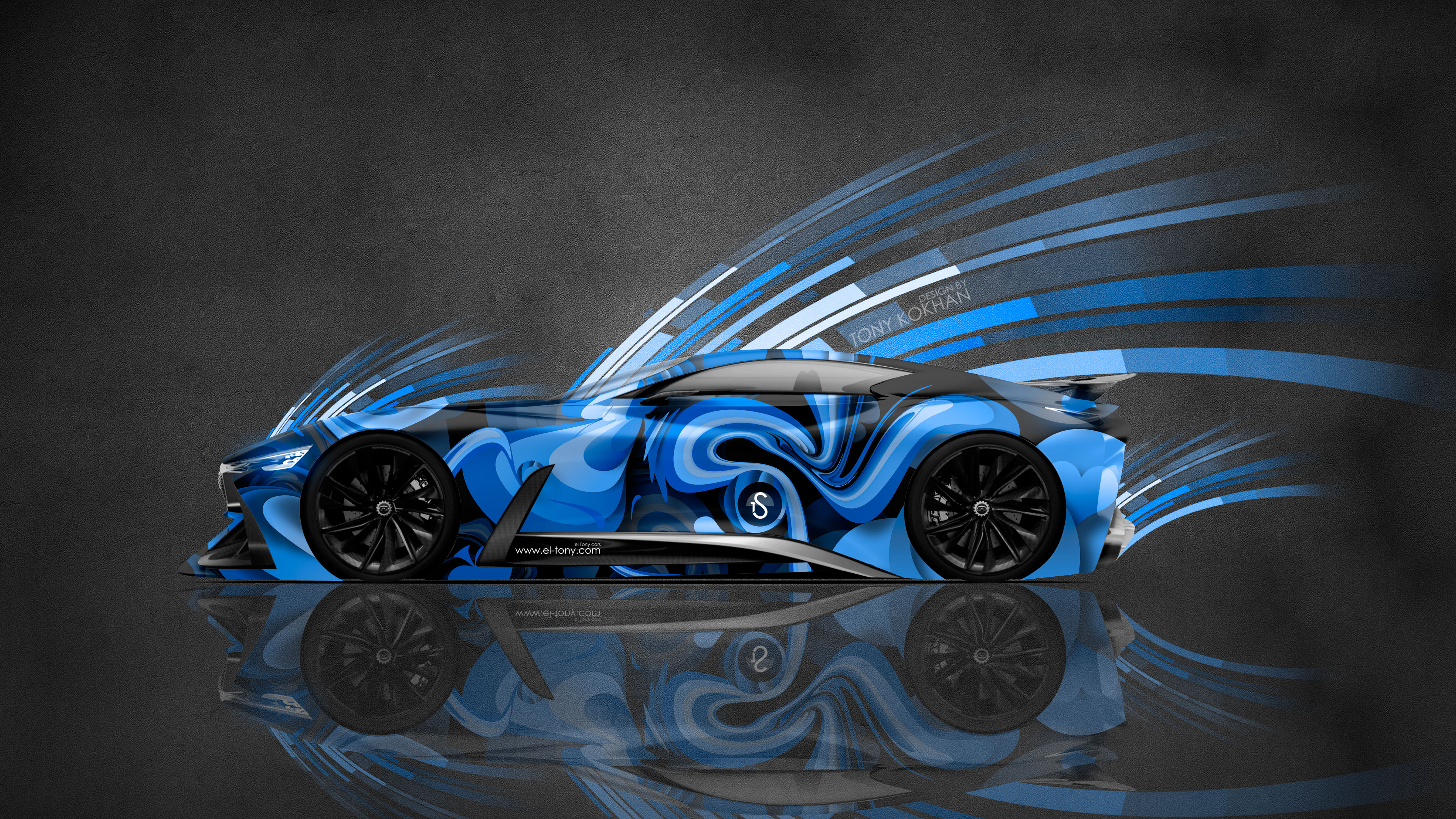 4k Infiniti Vision Gran Turismo Super Abstract Aerography